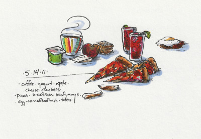 5/14/11 Dr. Who viewing, then late-night dinering. #doodlediet