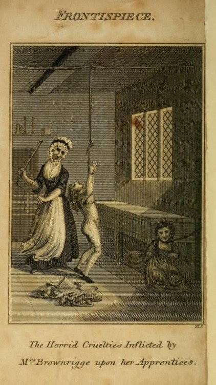 Elizabeth Brownrigg (1720–1767) was an 18th century murderess who torture her servants. Mary Clifford, was one of her domestic servants, who died from cumulative injuries and associated infected wounds from severe daily whipping and torturing for the slightest infraction of her rules. As a result of witness testimony and medical evidence at her trial, Brownrigg was hanged at Tyburn in September 1767