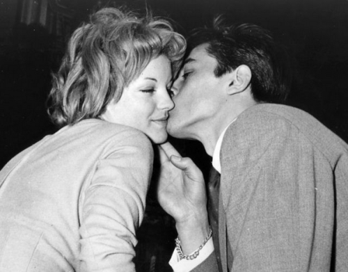 Bisou!Romy with Delon
