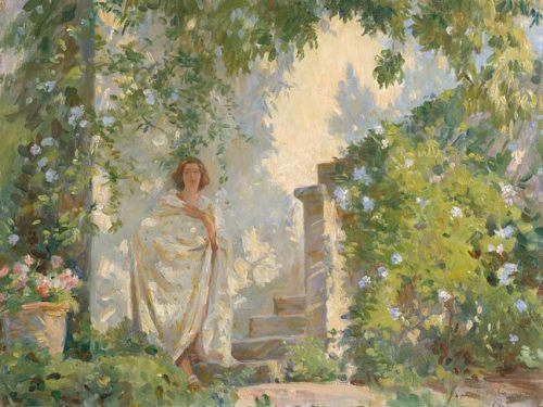 The White Villa, 1934, Jane Emmet De Glehn by a Great Aunt of Mine