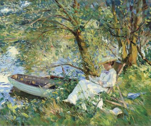 Under the Willows, Wilfred de Glehn, 1910 Husband to Jane Erin Emmet de Glehn
