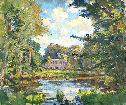 Palladian Bridge, Wilfred de Glehn Married to Jane Erin Emmet de Glehn