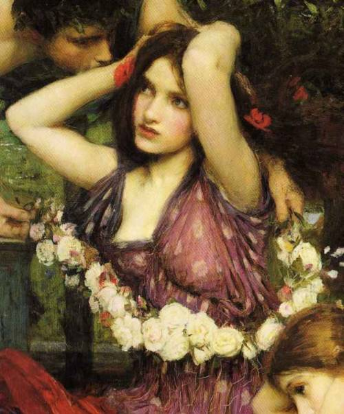 fuckyeahpreraphaelites:  Flora and the Zephyrs (detail)J. W. Waterhouse1897   love waterhouse.