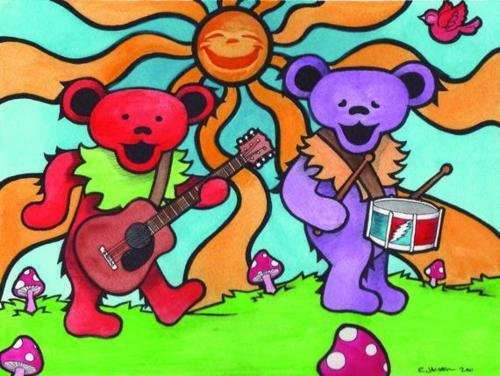 Dead Bear Drawing Grateful Dead