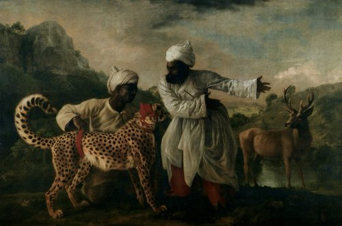 Indian Cheetah with  Two Servants and a Deer, 1765 George Stubbs