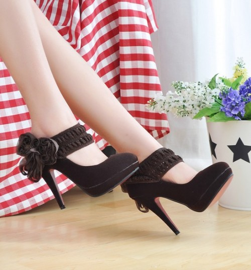 Appeal OL Style Rose Embellished Pumps Brown = $13.71