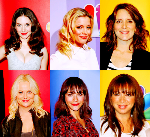 heathicorn:   Ladies of NBC  # omg i just want to have a sleepover with this graphic
