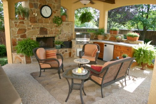 (via Outdoor Gazebo Living Area in San Antonio, Texas - eclectic - patio - other metros)