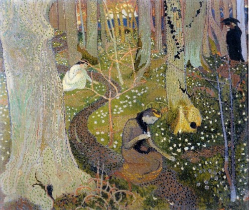 1891 Maurice Denis (French Symbolist, Les Nabist, writer, 1870-1941) ~ Easter Mystery [or 'Easter Morning']