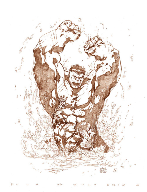 Hulk smash, Wolvie slash by Adam Archer