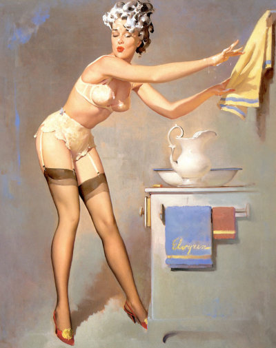 "vintagegal:  ""Eye Catcher"" by Gil Elvgren 1969"