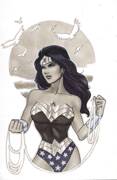 thehappysorceress:  Wonder Woman Sunset by protokitty