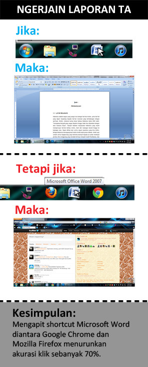 Hilangkanlah icon firefox dan google chrome disaat TA. by swiftdarkmanipulator