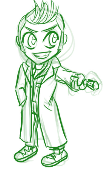 Making some Doctor Who keychains, this is my sketch for 10. I'm pretty sure it doesn't look much like him, but I haven't slept for something around 30 hours so I'm going to sleep on it and pick it back up tomorrow. Goodnight tumblr!