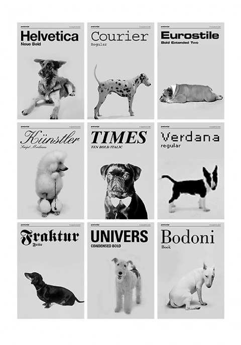 silentshapes:  if typefaces were dogs  Cuteee