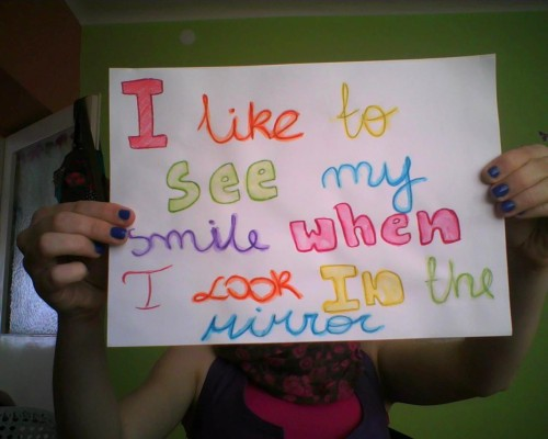 "I like to see my SMILE when i look in the mirror:) THE ""I"" MOVEMENT : BE PART OF A MOVEMENT TO INSPIRE THE WORLD! send me a link of your photo or submit it here"