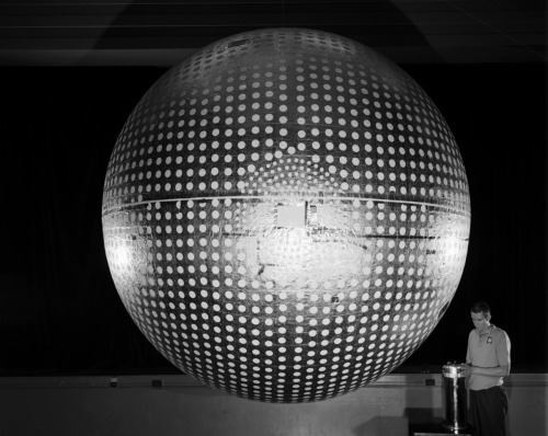 fuckyeahspaceexploration:  This satellite (Explorer 24) isn't a disco ball. It provided data for solar radiation levels and air-density in the upper atmosphere - 1964.