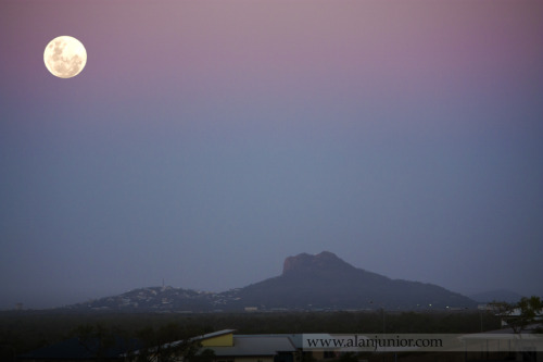 The moon tonight in Townsville, above Castle Hill, Queensland, Australia. :D