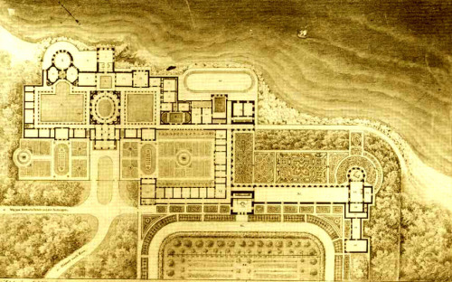 archimaps:  Schinkel's reconstruction plan for the Laurentine villa in 1841, Ostia