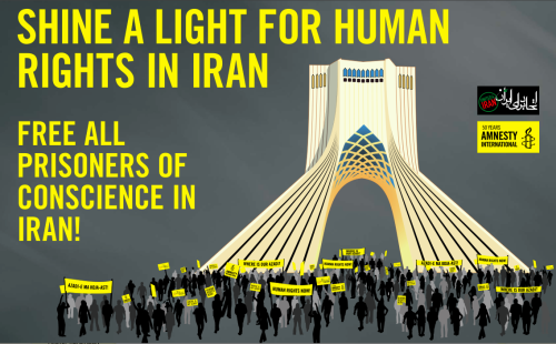 standwithfreeiran:  The Azadi Square action, a joint effort with United4Iran, is part of Amnesty's campaign for imprisoned student activist Majid Tavakkoli and hundreds of other prisoners of conscience in Iran. A full activism guide put together by Amnesty International USA is available for download as a PDF here. The full guide includes examples of letters and posters, sample resolutions, detailed instructions, suggestions, messaging, tips for organizing, and more. Learn more about how you can get involved in this campaign from United4Iran.