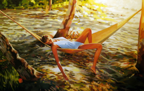Beach life (just finished) Oil/canvas-Marrakech 2011