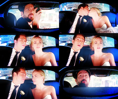 anita729:  CHUCK: To the airport, my good man!(CHUCK and SARAH kiss; MORGAN snags a picture) CHUCK: Morgan, what happened to the driver?MORGAN: Oh, no. I was always the driver, Chuck. Having a little trouble letting go, I suppose.CHUCK: Just roll up the partition, would you, buddy?MORGAN: As you wish. As you wish!Chuck 4.24 | Chuck vs. the Cliffhanger