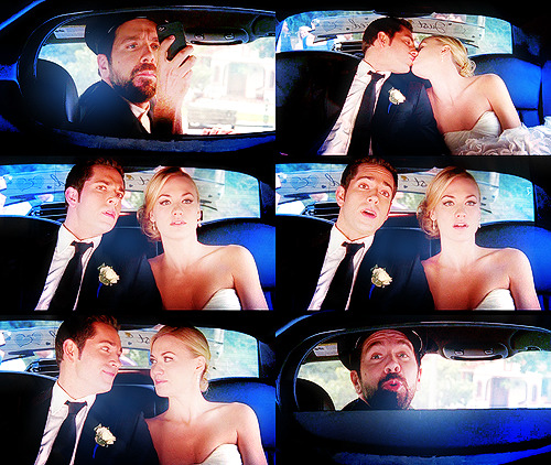 "CHUCK: To the airport, my good man!(CHUCK and SARAH kiss; MORGAN snags a picture) CHUCK: Morgan, what happened to the driver?MORGAN: Oh, no. I was always the driver, Chuck. Having a little trouble letting go, I suppose.CHUCK: Just roll up the partition, would you, buddy?MORGAN: As you wish. As you wish! Chuck 4.24 - ""Chuck vs the Cliffhanger""(via strahaight)"