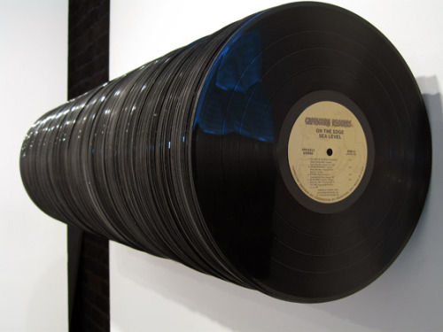This could be the worst (vinyl records, wood, steel, construction adhes) © David Ellis