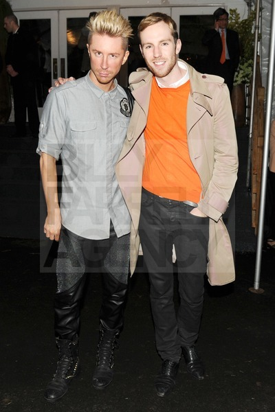 Kyle Anderson (ELLE Magazine) with Andrew Young at the Calvin Klein Highline opening event party. NYC.