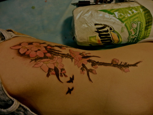 This is my sister's tattoo freshly inked! - Done by: CHING (East Tattoo) http://orientsoul.com/