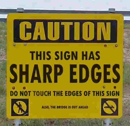 commercialscott:  Funny Sign by yonkeltron on Flickr.