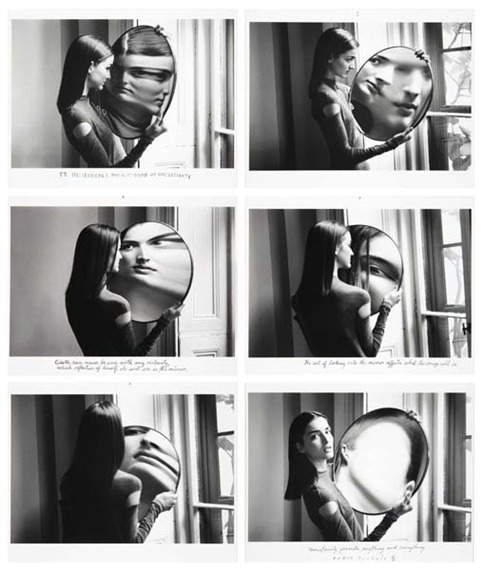 Dr. Heisenberg's Magic Mirror of Uncertainty, 1998 by Duane Michals *  [also here & here] billyjane:  Dr. Heisenberg's Magic Mirror of Uncertainty, 1998 by Duane Michals * [also here & here]from MutualArt