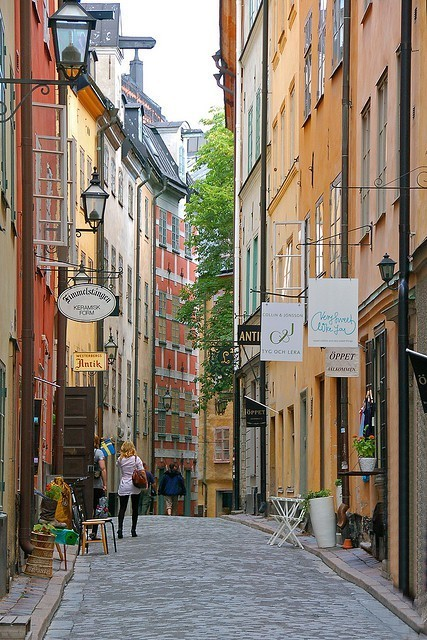 The streets of Stockholm, Sweden
