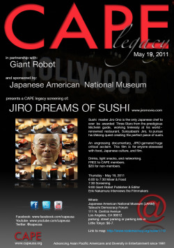 Jinro Dreams of Sushi movie screening May 19, 2011- Little Tokyo
