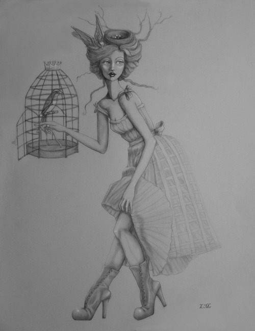 The Cage  Fine art print of my original drawing….