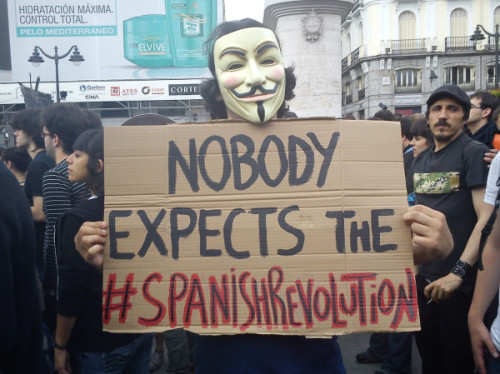No body expects de #spanishrevolution