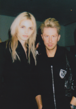 Kyle Anderson (Elle Magazine) with Andrej Pejic at Art Rocks Event NYC.