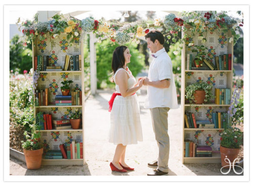 Bookshelf wedding arch. AKA my future.