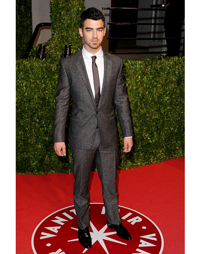 Joe jonas seems to have been blessed by the fashion king.