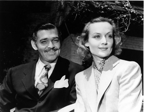nikkithemouse:   Carole Lombard and Clark Gable