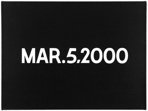 #on #kawara #painting