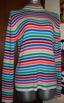Vintage Rainbow Stripe Sweater M Marked medium, fits a large. Looks hot - it's actually not, very breathable knit.6$