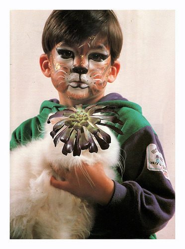 plantsandanimals:  Tigerchild Hand cut collage 2011