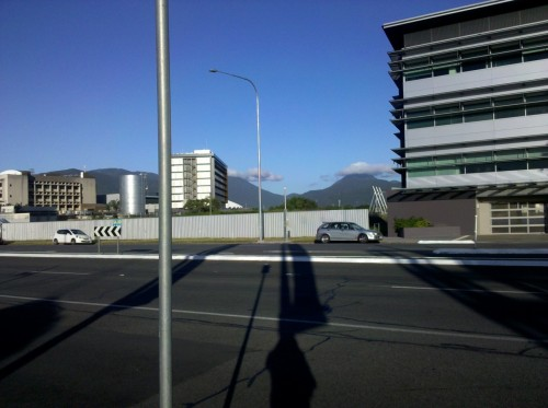 The mountains around Cairns were crazy beautiful. Some of the buildings were lovely too, just not these.