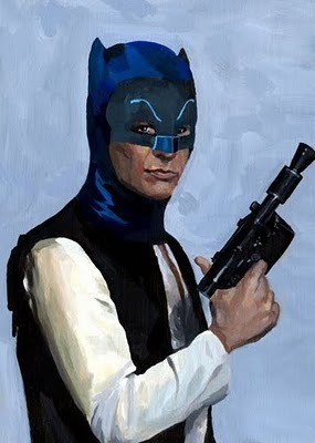 Han Solo as Batman -  by Adrienne Kammerer (via: koldunkisloty)