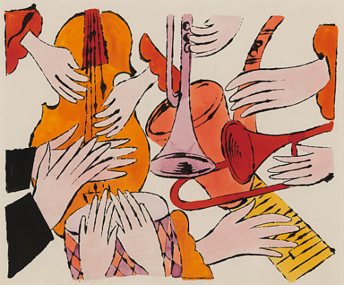 below14thst:  Andy Warhol, Instruments With Hands, 1957 National Galleries of Scotland