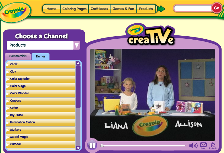Crayola now has a feature called Creativity TV. It features craft videos using their products and are presented and demonstrate by kids. Of course, you don't have to use their products to create many of the projects but I do believe that they have the best crayons on the planet. Kids will enjoy making these crafts while learning from other kids. This would be great to use as a center activity for a few students. Or if you have large screen viewing capabilities how about during a day when recess has been rained out. If you like this you will also like Activity TV, which I use all of the time. Kids really love it. They have a nice variety of activities.
