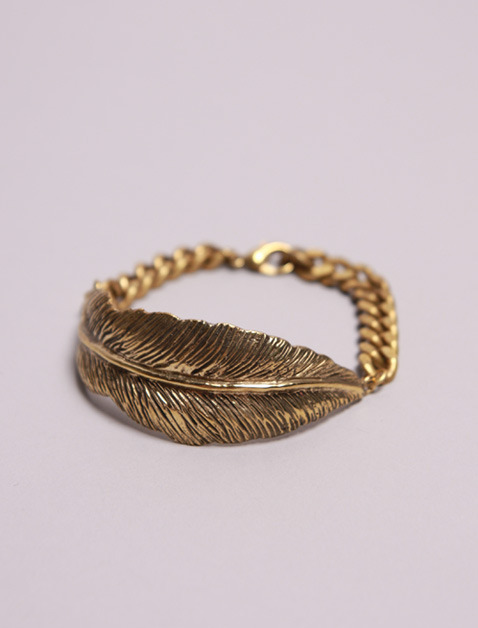 Big Feather Cuff Bracelet http://oldgoldboutique.com/shop/big-feather-cuff
