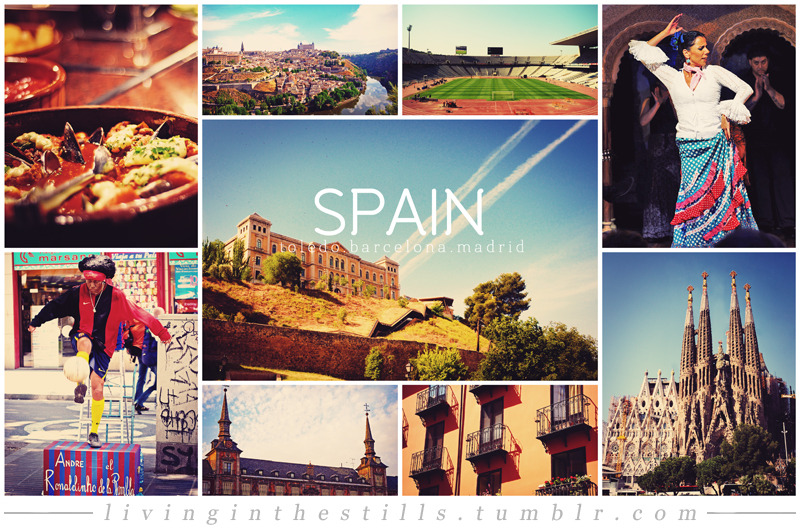 Travel Collage #3: SpainCities included: Toledo, Barcelona & MadridTravel Collage List
