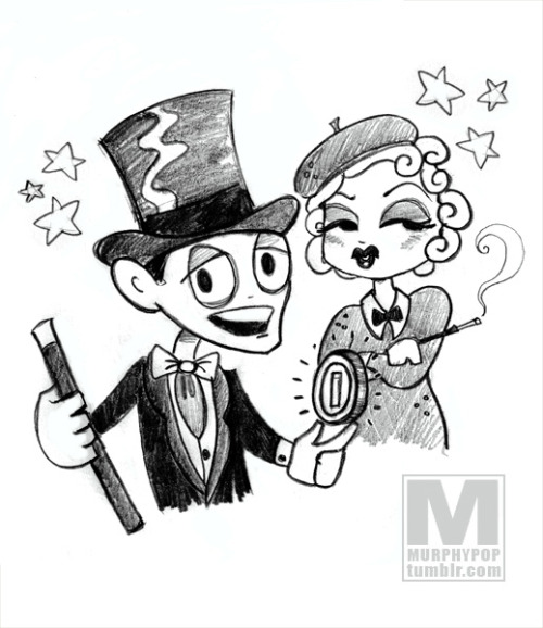 1930's Scott Pilgrim (starring Fred Astaire and Marlene Dietrich) from a challenge by @smallerdemon